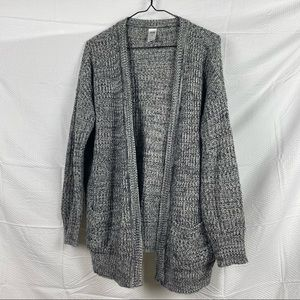 Kmart (NOW) Gray Thick Knit Lightweight Long Sleeve Open Cardigan Size S